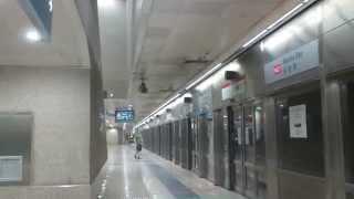 SMRT C751B and C151A/2 Trains at Marina Bay
