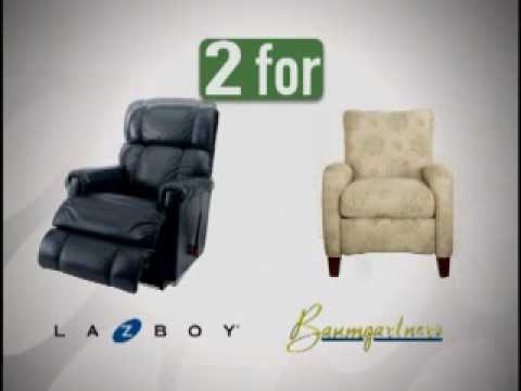LZB 2 Chairs 1 Price Ad.wmv. Baumgartneru0027s Furniture In Columbia