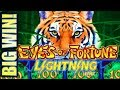 ★HUGE WIN $$$ ON FREE PLAY!!★ $5.00 BET - NEW EYES OF FORTUNE LIGHTNING LINK Slot Machine