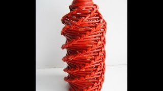 ▬►Спиральное плетение из газет. Часть 2. / Spiral weaving