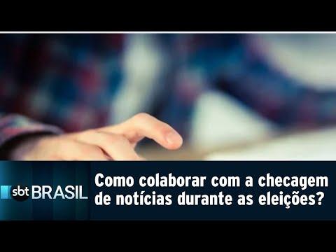 Saiba como colaborar com a checagem de notícias durante as eleições | SBT Brasil (10/08/18)