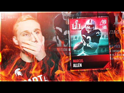 FIRST 99 OVERALL!!!! SUPER BOWL PROMO IS HERE!!! Madden Mobile 17