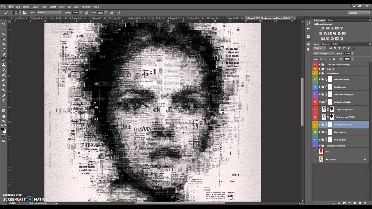 Newspaper Art Photoshop Effect Tutorial