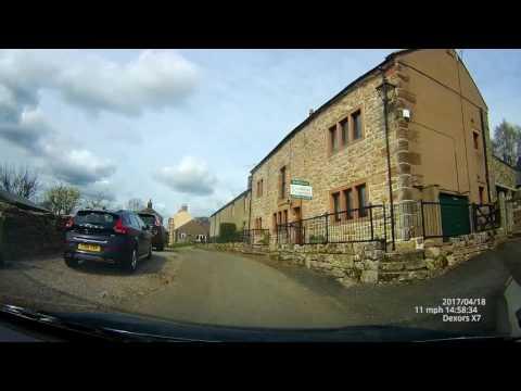 Driving through deep rural Cumbria