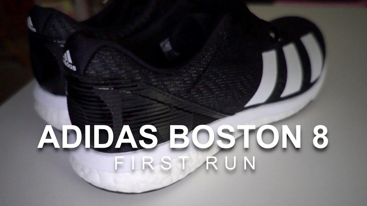 sangre oxígeno Crónico  Adidas Adizero Boston 8 - First Run - YouTube