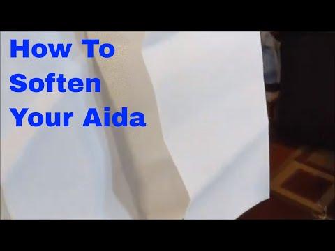 FlossTube Tutorial: Softening Aida For Cross Stitch