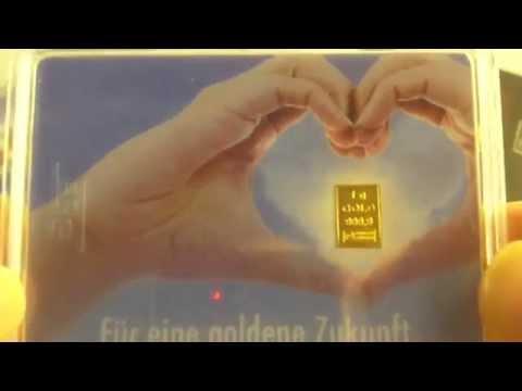 Goldbarren 1 gramm mit Wechselmotiv - Tolle Geschenkidee
