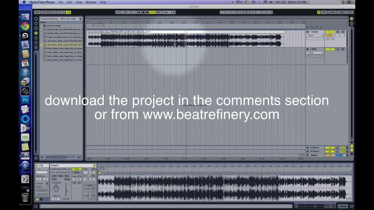 Ableton Live Tutorial Vinyl Stop Effect Dj Trayze Youtube
