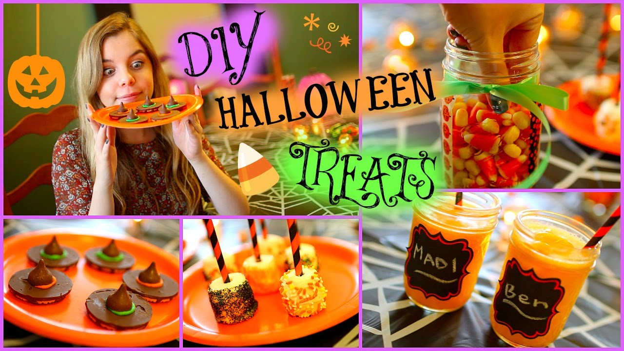 easy diy halloween treats! - youtube