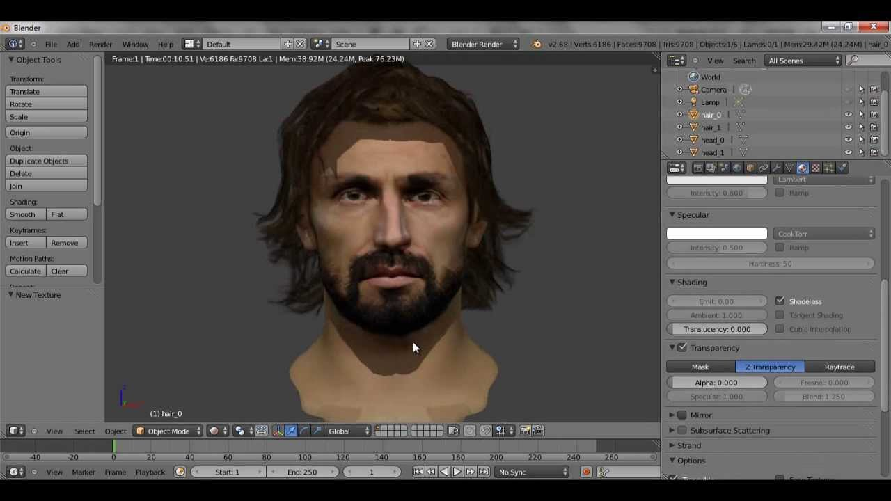 Fifa 14 how to edit hairs and head models plus rendered 3d model editor