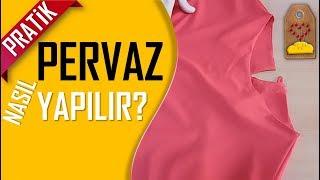 Kolay Pervaz Nasıl Yapılır? - How to make the rim? | Dikiş Hocam