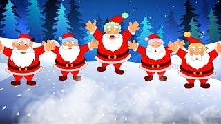 5 жира Санта | рождественская песня | Санта-Клаус колядка | Christmas song in English | 5 Fat Santa