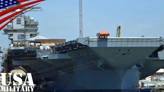 新型空母「ジェラルド・R・フォード」電磁式カタパルト射出テスト - EMALS dead load testing USS Gerald R. Ford (CVN 78)
