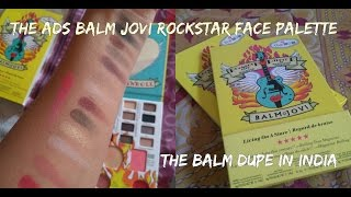 ADS Balm Jovi Rockstar Face Palette Dupe for The Balm Rockstar Pallete in India | Review & Swatches