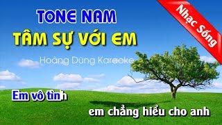 Tâm Sự Với Em Karaoke Nhạc Sống Tone Nam