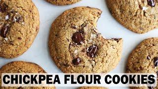 RECIPE// Chickpea Flour Chocolate Chip Cookies (gluten free + easy)