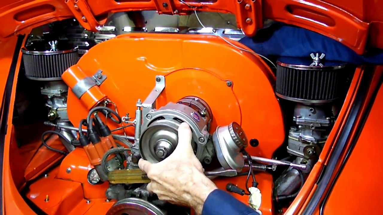 air cooled vw beetle alternator removal fan adjustment pt  youtube