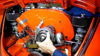 Air Cooled Vw Beetle Alternator Removal Fan Adjustment Pt 1