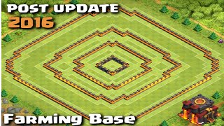 POST UPDATE Town Hall 10 Farming Base with Town Hall Inside! Clash of Clans