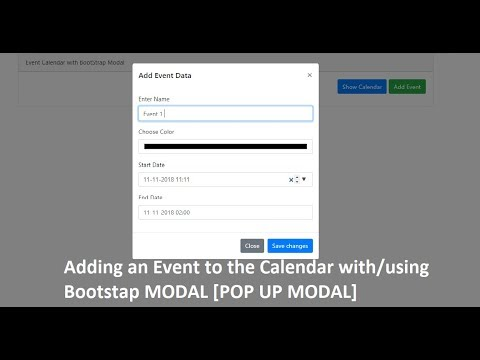 Event Calendar With Bootstrap Modal | Add Event Data (full Calendar)