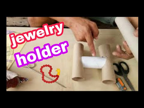 How to make a Jewelry Holder from recycled materials???? (DISPLAY TUTORIAL)  (DIY)  vlog04