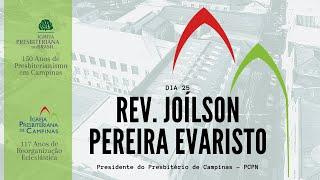 Palavra do Rev. Joílson Pereira Evaristo