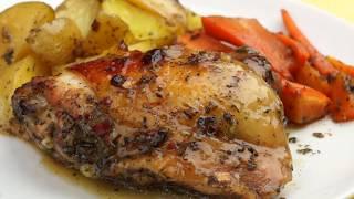 Курица с картошкой в духовке в медово-соевом соусе — НЕВЕРОЯТНО ВКУСНО