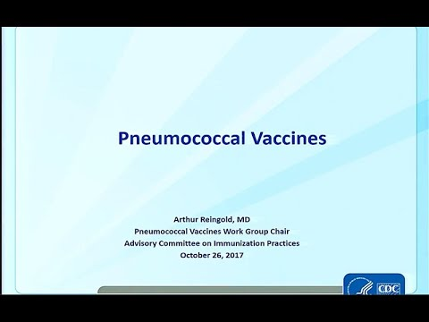 October 2017 ACIP Meeting – Pneumococcal Vaccines; Anthrax; RSV; Evidence based Recommendations