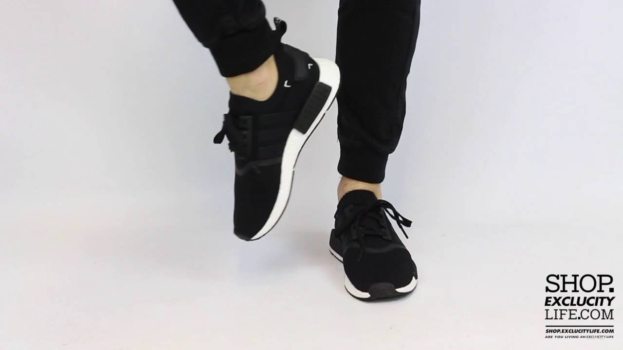 953aa88fa5fba Adidas NMD Runner PK Black White On feet Video at Exclucity - YouTube