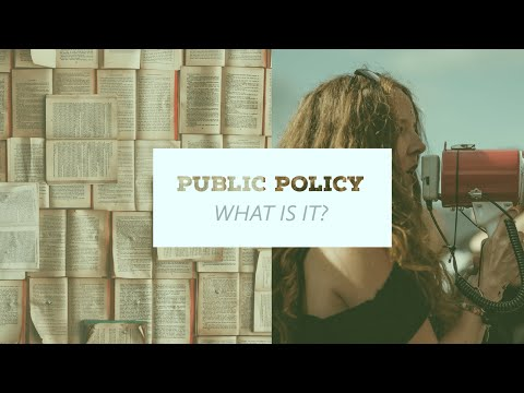 WHAT IS PUBLIC POLICY IN SIMPLE TERMS