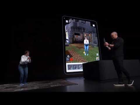Minecraft Earth AR WWDC 2019 Demo