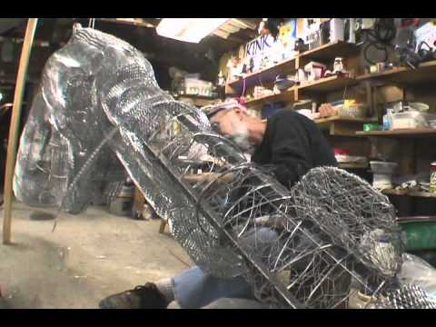 Paper mache sculpture youtube for How to make paper mache waterproof