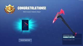 *UNLOCKING* The Scarlet Scythe Pickaxe In Fortnite...!!!