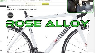 Rose Pro SL-2000 comfort road bike for 186 cm tall rider. Review / sizing.
