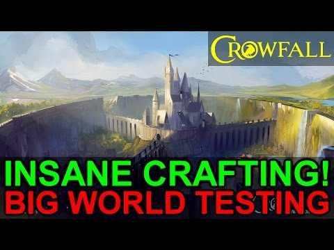 Crowfall Big World Testing Thoughts: In Depth Crafting, Survival, and PvP! (Crowfall Alpha Gameplay)