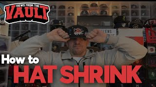 How to Shrink Your New Era Fitted Hat!