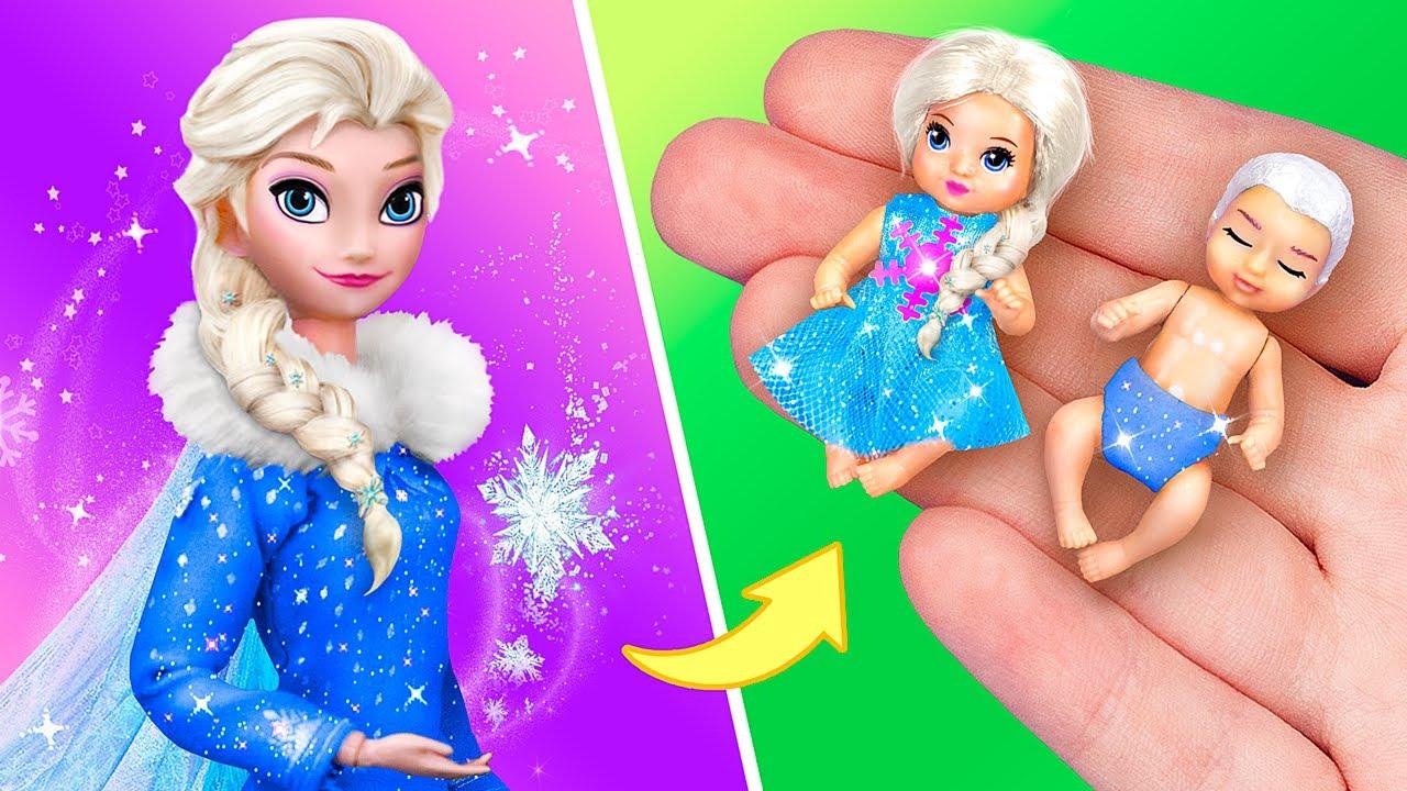 Elsa Et Ses Bébés / 11 Astuces Et Bricolages DIY Pour Une Poupée Bébé