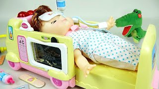Ambulance baby doll and Doctor toys play thumbnail