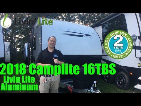 2018 Camp Lite 16tbs Livin Lite Aluminum Travel Trailer RV LIGHT WEIGHT