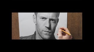 Jason Statham  Full HD рисунок Drawing timelapse