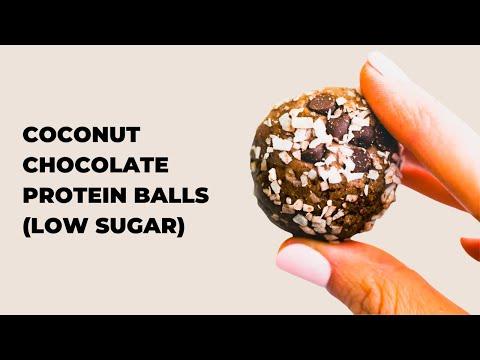 CHOCOLATE COCONUT PROTEIN BALLS - LOWER SUGAR