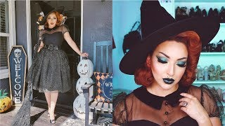 1950'S WITCH HALLOWEEN TUTORIAL | Get Ready With Me