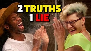 2 TRUTHS, 1 LIE - WATER CHALLENGE (Squad Vlogs)