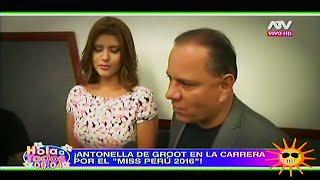 HOLA A TODOS 11/03/16 LOS CHISMESITOS: LA NOVIA DE 'BRAD PIZZA' EN EL MISS PERÚ, ANDREA...