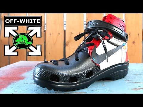 2d12bbcba THE UNRELEASED OFF WHITE CROCS! FIRST LOOK! - YouTube