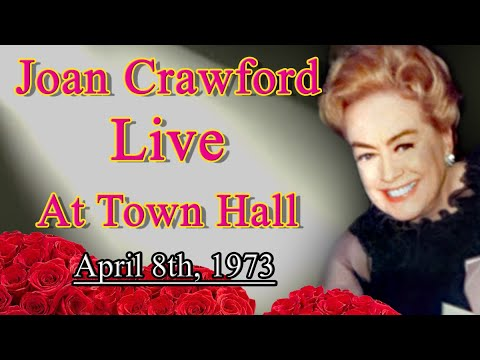 Joan Crawford At Town Hall (1973) Complete Recording
