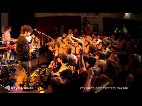 FOALS Myspace Secret Show performing Red Sock Pugie