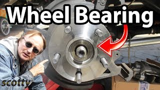 How to Replace a Rear Wheel Bearing in Your Car - DIY with Scotty Kilmer