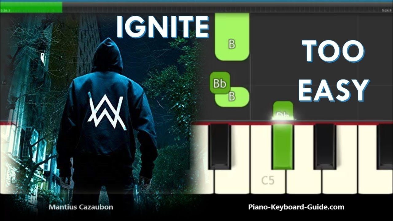 How to Play Ignite by K-391 & Alan Walker - Right Hand Slow Easy Piano  Tutorial
