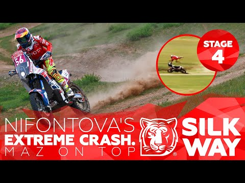 Nifontova's EXTREME crash. MAZ on top | Silk Way Rally 2019 🌏 RUS - Stage 4
